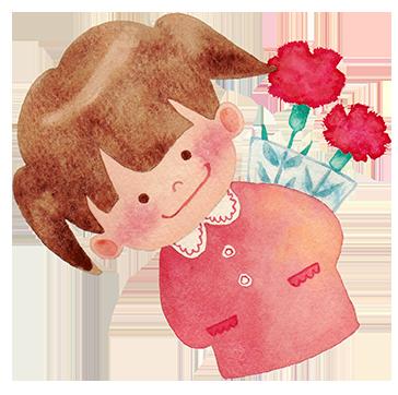 小女孩藏花
