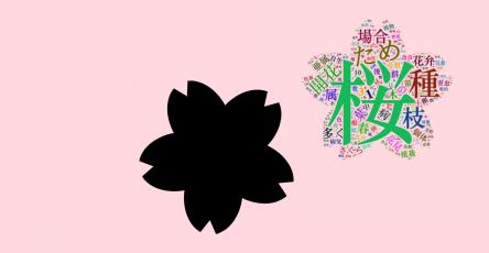 櫻花形狀的詞雲圖